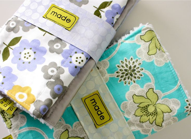 DIY burp cloths - I made these for a friend and she LOVED them!  Wish I'd thought of them when my girls were babies.