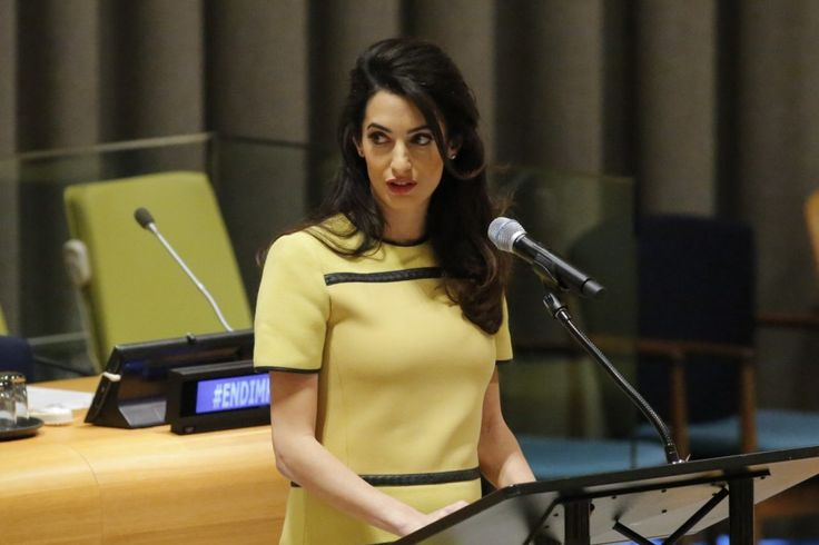 """""""Don't let ISIS get away with genocide,"""" the international human rights lawyer told the United Nations."""