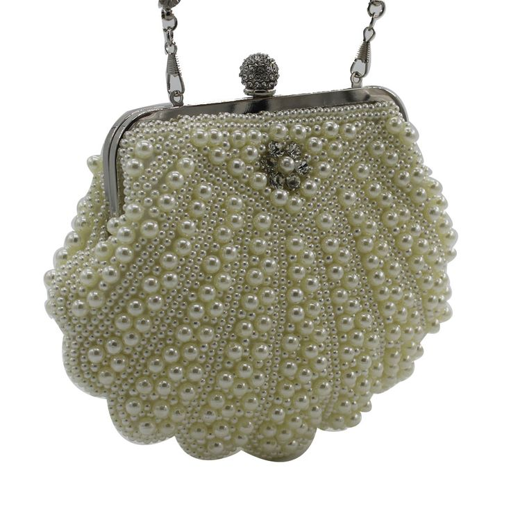 Pearl with Diamond Finger Clutch //Price: $47.99 & FREE Shipping //     #handbags