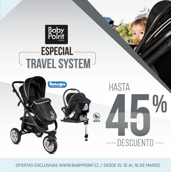 Coches con Travel System BebeGlo con hasta 45% de descuento ¡No te los pierdas! Excelente minuto para adquirir unas rueditas nuevas para tu bebé. Revísalos aquí-> bit.ly/198SQma