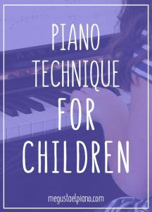 Piano technique for children: Firm Fingertips