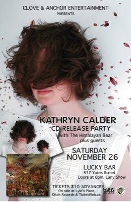 Kathryn Calder gig poster
