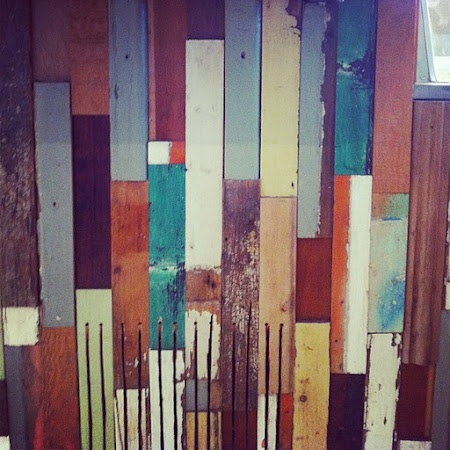 wall of old or distressed 2x4's
