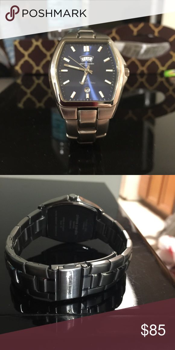 Men's Pierre Cardin Watch Wth Mercedes Engraving ! Men's Pierre Cardin Watch with Mercedes Engraving (bought from Mercedes dealership)   Only thing is, it didn't come in a box but I will put it in another box   New, beautiful n collectible piece !  Guarantee, u will love it !   Must go ASAP ! Pierre Cardin Accessories Watches