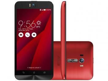 Smartphone Asus ZenFone Selfie 32GB Vermelho - Dual Chip 4G Câm 13MP + Selfie 13MP Flash