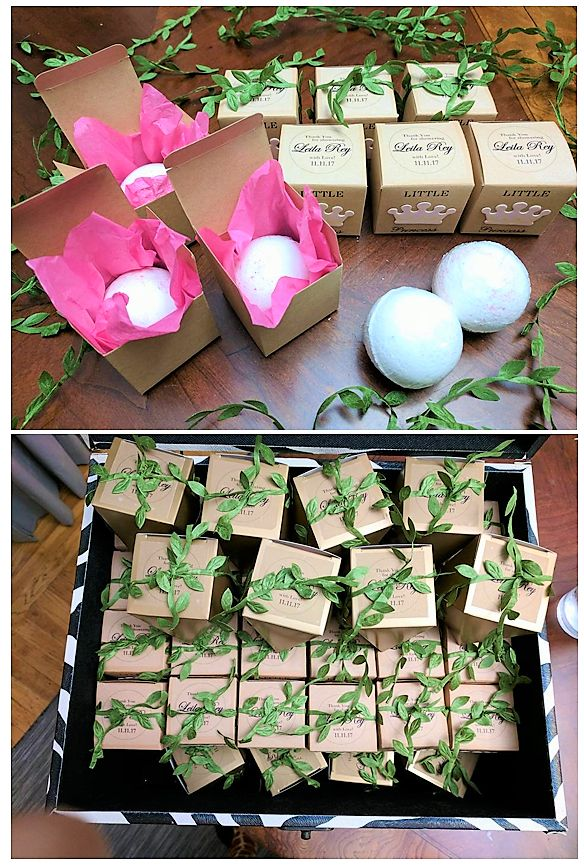 BATH BOMBS Baby Shower Party Favors!