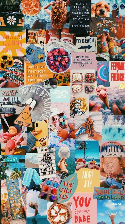 Travel Vision Board Collageboard Bureaubladachtergronden