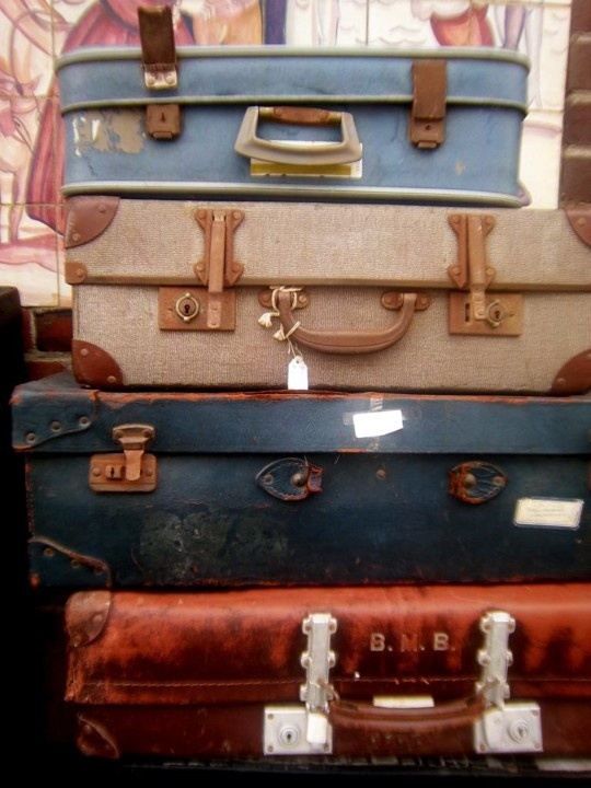 Old Suitcases at The Trading Post