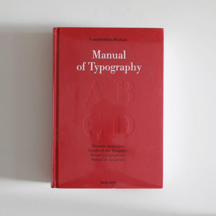 Manual of Typography