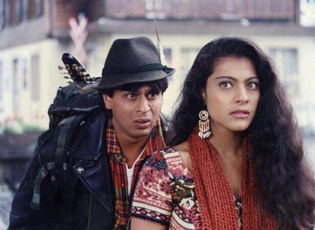 Shahrukh Khan  Kajol as Raj and Simran in DDLJ - LOVE this film!
