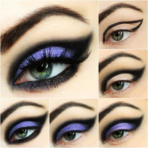 Pumps by Ewelina D-Ewelina shows us easy breezy ways to create the perfect night out look! Smear on some purple and black hues to highlight your gorgeous eyes!