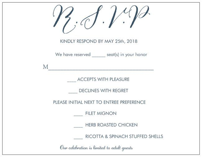 Rsvp Card For A Wedding With Limited Guest Count Rsvp Wedding Cards Wedding Rsvp Rsvp