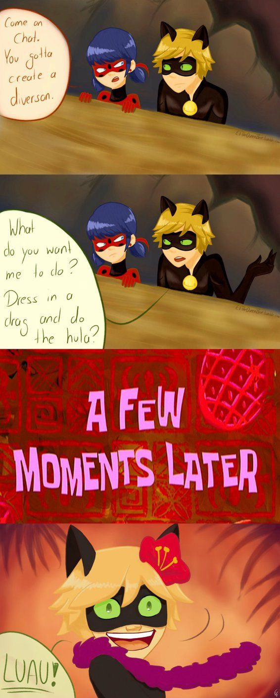 Miraculous Ladybug & Chat Noir - LUAU!!! | The Lion King AU Timon y Pumba by PeruGirl199.deviantart.com on @DeviantArt