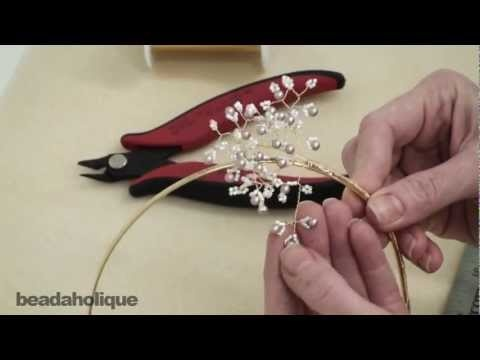 How to Create a Wire Wrapped Beaded Sprig