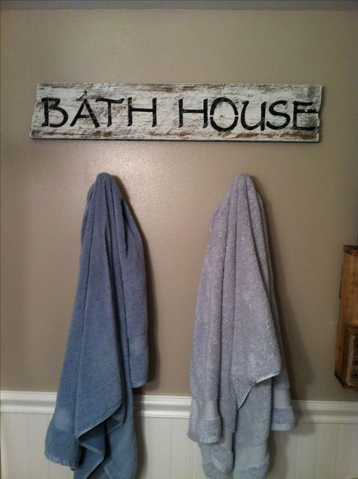 DIY barn wood sign... Bathroom decor