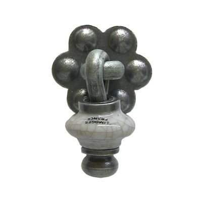 Small Brionne Drop - Grey Crackle #motherofpearl #MOP #brionne  #renovation #homedecor #hardware #patina #patinafinish #handles