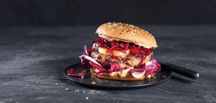 Roter Veggie Burger