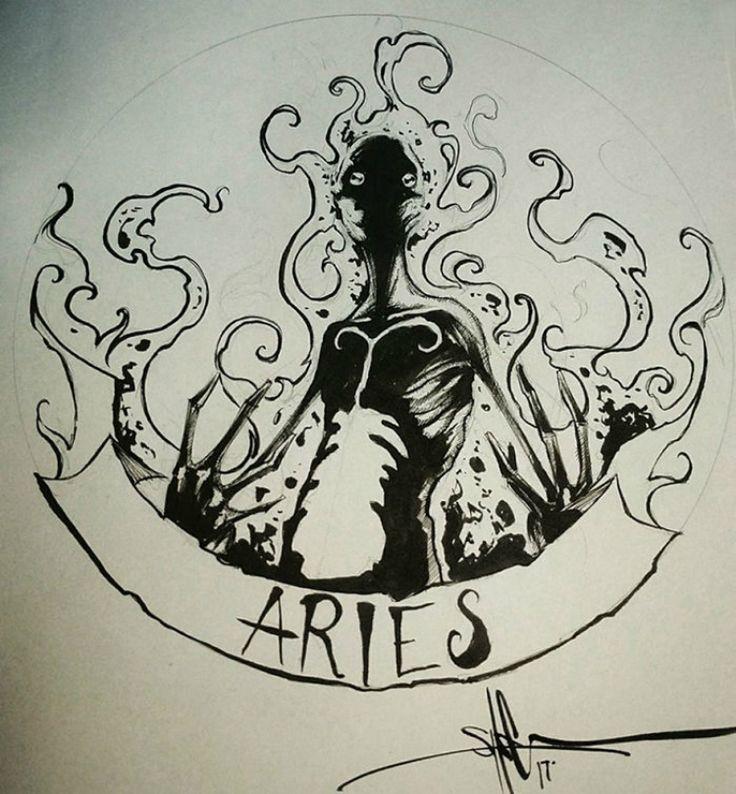 #ARIES As ilustrações mais sombrias de cada signo - Clique Cultural