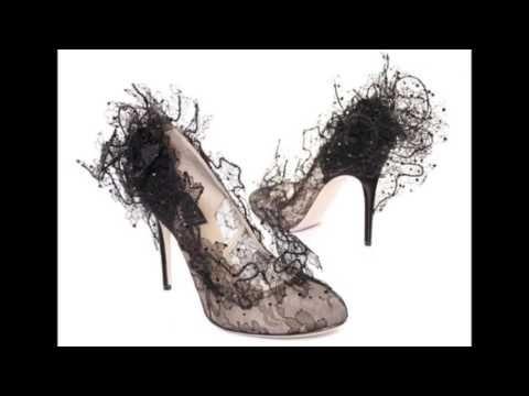 Красивые кружевные туфли - YouTube