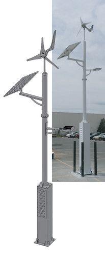 Solar Hybrid Light. 140W Solar panel, battery capacity 150 Ah, LED street light: 5000K. Read more: http://www.ying-international.de/hybrid/