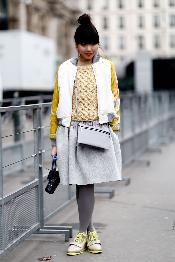 Susie 'Bubble' Lau 'A/W 13-4 Streetstyle Upchuck', Style Bubble, wearing knitted sweater by me!