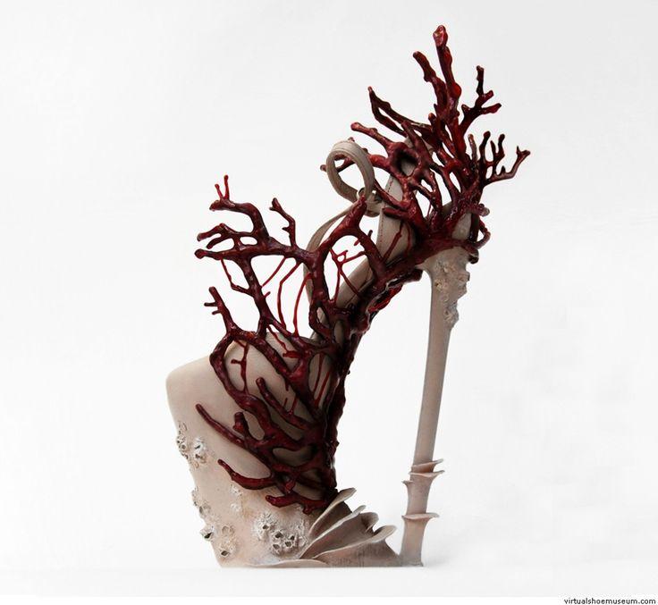 Coral shoe | virtualshoemuseum.com