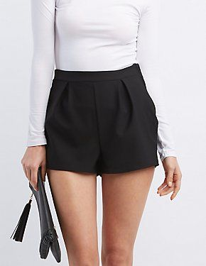 Pleated High Rise Shorts #CharlotteLook