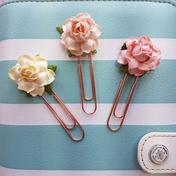 Check out this item in my Etsy shop https://www.etsy.com/uk/listing/470051653/pretty-rose-planner-paperclips-set-of-3