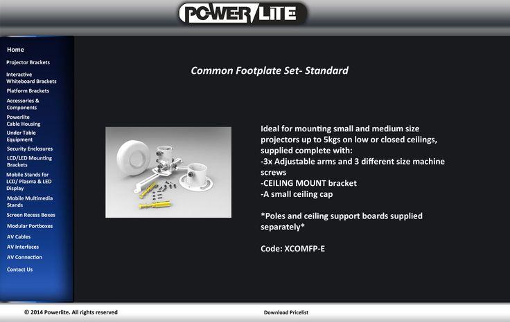 Powerlite Ceiling Mounting Projector Bracket Kit