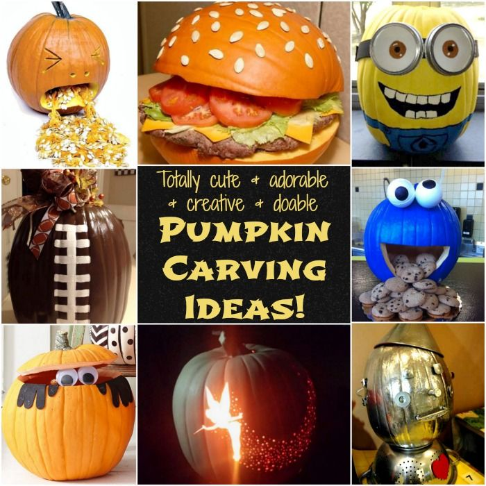Creative Pumpkin Ideas! Man – I so wish I was this creative! Not only are these pumpkin ideas totally creative, I think for the most part, I could actually pull these off…. maybe not Tinkerbell, but I think I could do any of the others!  Pumpkin carving in my house can be a bit …