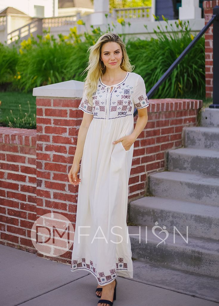 e4e87814e ANGELA - Ivory Embroidery Maxi, maxi dress, long maxi dress, white dress,