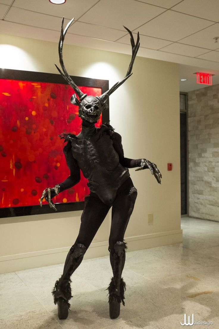 It's a Wendigo! Somebody made a really amazing Wendigo! Creepiest Native American legend I know of.