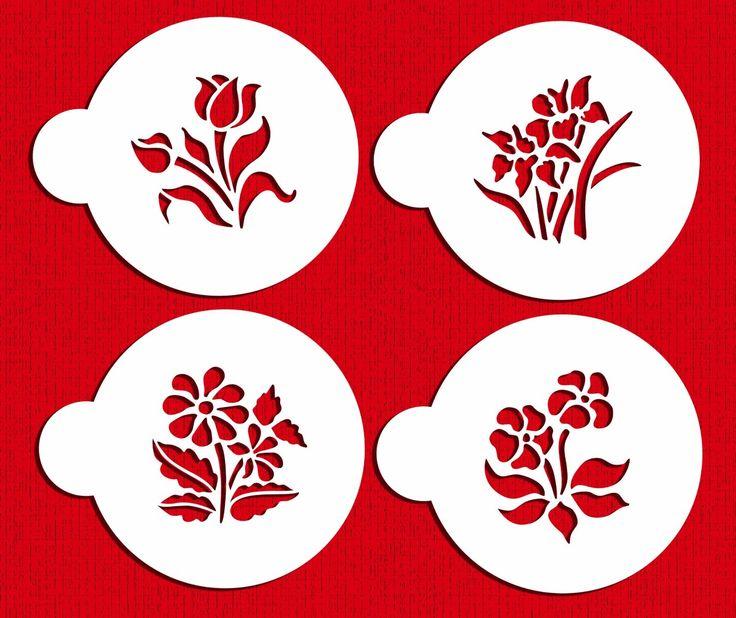 Amazon.com: Small Botanical Flowers Cookie Stencils by Designer Stencils: Food Decorating Stencils: Kitchen & Dining