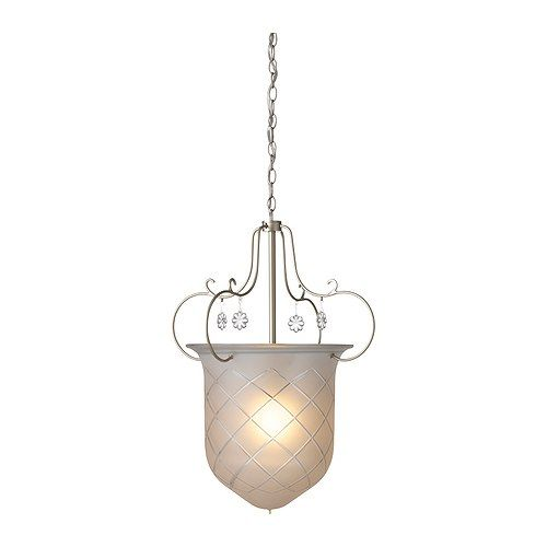 It's hard to find pretty chandeliers without bare lightbulbs.