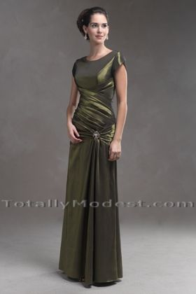 Amberlyn MODEST FORMALS/MAIDS Totally Modest WEDDING dresses, PROM & Bridesmaid dresses w/ sleeves