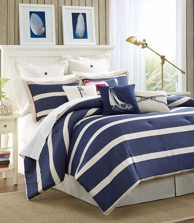 navy and yellow bedding | Then there is this navy and white zebra rug from Jonathan Adler that ...