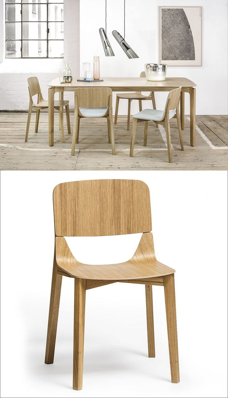 Furniture Ideas - 14 Modern Wood Chairs For Your Dining Room   Two pieces of solid bent wood give this chair a unique look and a strong, stable feel.