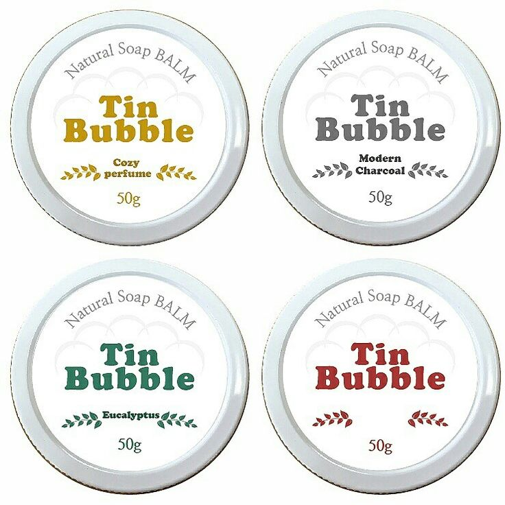 Tin Bubble Natural Soap BALM