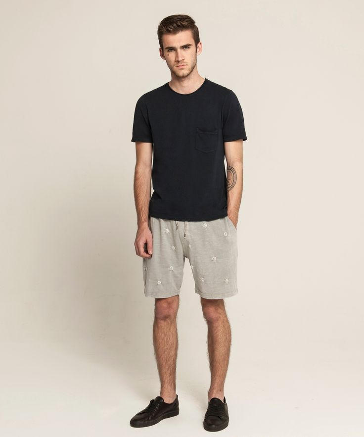 Light Weight Pocket T - Navy, Hand Dyed Lounge Shorts - Bamboo Carbon