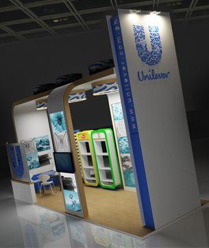 Unilever ürün teşhir standı modellemesi
