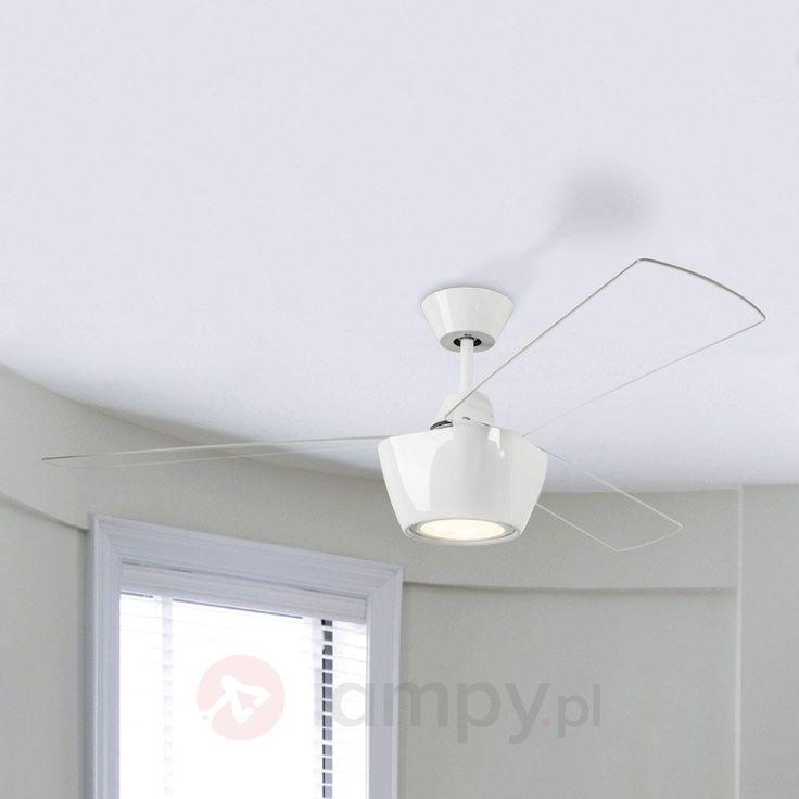 Nowocześnie zaproj. wentylator sufitowy Ceos z LED 6026503