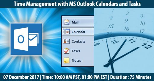 Learn to handle your workload, improve your productivity and stay focused on projects and appointments with Microsoft Outlook Calendars and Tasks.