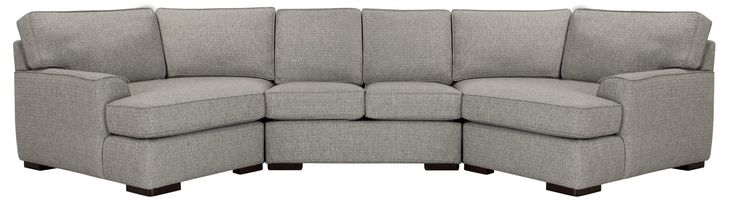 Austin Gray Fabric Dual Cuddler Sectional