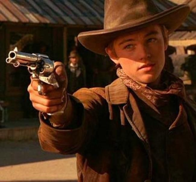 Leonardo Dicaprio in The Quick And The Dead.