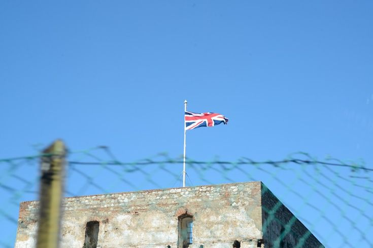 British flag on top of fortification