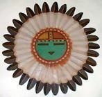 Zuni Native American Sun Face God design
