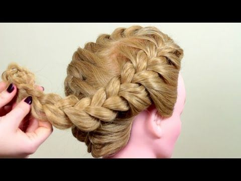 ▶ Bulk Spit. Quick hairstyle. Quick hairstyle with volume braid. - YouTube