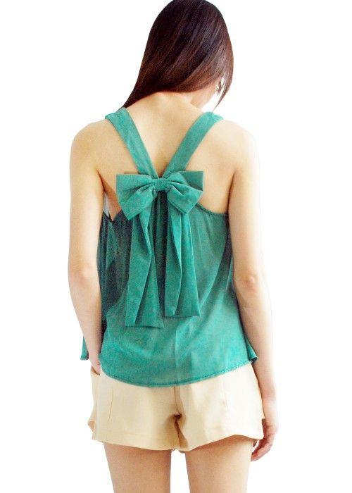 Mirella Ribbon TopRibbons Tops, Clothing Diy, Tanks Tops, Mirella Ribbons, Bow Tops, Pretty Tops, Fashion Style Accessories, Bows Tops, Ribbons Tanks