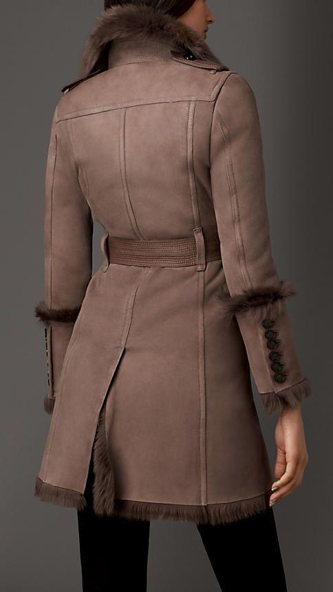 Revere Collar Shearling Coat | Burberry London