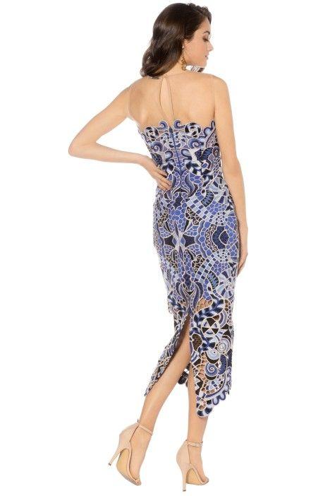 Thurley - Blues Festival Dress - Blue - Back